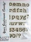 School Days Lower Alphabet My Sentiments Exactly Clear Acrylic Stamp Set Y504