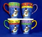 4 SWEET SHOPPE SUE ZIPKIN SNOWMAN CHRISTMAS MUGS SET