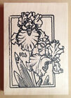 Mounted Rubber Stamps Flower Stamps Flowers Lg Iris Frame Irises Nature