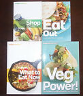 Weight Watchers Lot of 4 SHOP Food Companion Veg Power What To Eat Now Cookbooks