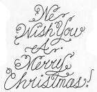 Unmounted Rubber Stamp Christmas Stamps Sayings We Wish You A Merry Christmas