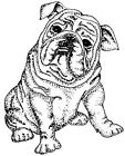 Wood Mounted Rubber Stamps Canine Dogs Dog Stamps Bulldog Stamps Bulldogs