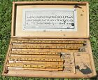 Antique Vintage Milton Bradley Co. Wooden Rubber Stamp Ink Print Kit w/ Wood Box