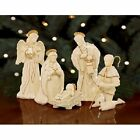 Lenox Innocence Nativity 6 Piece Set Holy Family Angel  Shepherd with Lamb
