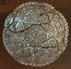 ABP Antique Intricate CUT GLASS Crystal Berry BOWL 8 1/4