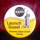 NEW Vintage NASA Kennedy Space Center Florida Launch Guest Button Pin Badge