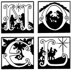 Unmounted Rubber Stamps Nativity Stamps Christmas Holiday Christian NOEL