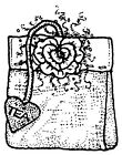 Unmounted Rubber Stamps Tea Bag Floral Stamps Teabag Hearts Rubber Stamps