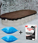 16x25 Oval Above Ground Winter Pool Cover + 4x4 Air Pillows + Winterizing Kit