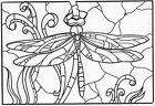 Unmounted Rubber Stamps Stained Glass Dragonfly Dragonflies Nature Stamps