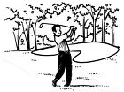 Unmounted Rubber Stamp Sports Stamps Golf Stamps Golfing Golfer Golf Course