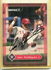 Signed Ivan Rodriguez Auto 2000 Impact signed in person