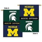 Michigan Michigan St 2 Sided 28x40 Banner W Pole Sleeve House Divided96329
