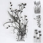 Scrapbook DIY Flower  Grass Transparent Silicone Clear Rubber Stamp Sheet Cling