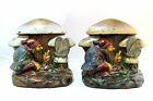 1920s Armor Bronze, Bronze Clad Gnome Talking to Butterfly Book Ends, C. Allen