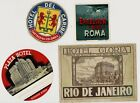 Lot of 4 Old Foreign Hotel Luggage Labels Nice Condition