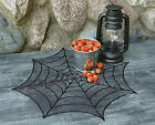 Halloween Spider Web Doily by Heritage Lace 20 Inch Round Black Lace One