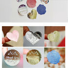 Heart Miss You Envelope Stickers Seal Label for Gift Box Soap Craft Baking DIY