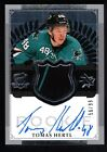 TOMAS HERTL 2013 14 UD THE CUP RC AUTOGRAPH 2 COLOR PATCH JERSEY AUTO # 99 $800