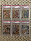 Lot Of 6 Different 1938 Gum Inc. Horrors Of War High Number Cards PSA Graded
