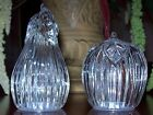 NEW GORHAM GERMANY CRYSTAL FRUIT APPLE PEAR SALT AND PEPPER SHAKERS IN BOX