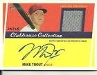mike trout baseball cards 2011 Topps Heritage Auto Relic Card s n 20 25