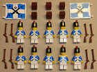 10 Lego Pirate Minifigs Guys Men People Blue Coats IMPERIAL ARMADA SOLDIERS