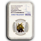 2016 Day of Dinosaurs Spiked Lizard NGC PF70 ER Canada 1 2 oz Proof Silver Coin