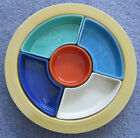Vintage Fiesta Relish Tray ALL 6 COLORS! MINT Condition NR!
