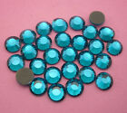 Hot fix Multiple facets Peacock blue AB Crystal Flat Back Rhinestones R20