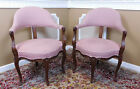 PairEarly 20th Century Carved Walnut Louis XV French Country Corner Armchairs