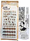 Postal Clear Acrylic Stamp  Stencil Set by Tim Holtz Stampers Anonymous THMM104