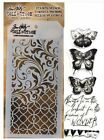 Watercolor Butterfly Clear Acrylic Stamp Stencil Set by Tim Holtz THMM103 NEW