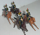 Old BRITAINS Lead, British 4th Hussars, From Set #8 (9305), 4 Pieces, c.1961