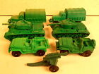 AUBURN RUBBER TOY SOLDIER *6 ARMY VEHICLE JEEP, TANK, TRUCK LOT #1*