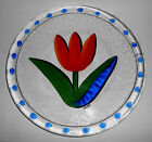 Kosta Boda Art Glass Tulip Hand Decorated Ulrica Hydman Vallien Plate