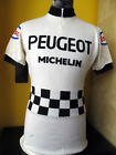 PEUGEOT ESSO proteam TDF 1976 81 VINTAGE ACRYLIC CYCLING JERSEY Sz L