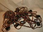 Vintage Christmas String Lights 25 Socket Red Green Wire NO Bulbs C9 Clips