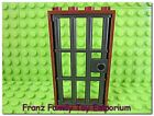 New LEGO Pearl Dark Gray Barred Jail DOOR 1x4x6 Brown Frame Castle Pirate Ship