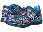 Geox Navy Silver Light Up Race Car Non Tie Sneakers NIB Youth Boys Size 2