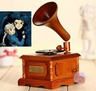 WOOD PHONOGRAPH WIND UP MUSIC BOX  Merry Go Round of Life
