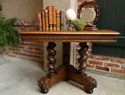Antique French Carved Oak Barley Twist Console Sofa TABLE Renaissance Rococo