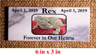 Custom Pet Memorial Grave Marker 5x3x05 Headstone Stone Dog Cat Horse Bird