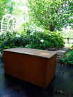 VTG RUSTICWOOD CHEST COFFEE TABLE TRUNK STORAGE BENCH FOOTLOCKER OTTOMAN TOY BOX