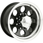 15x8 Black Alloy Ion Style 171 Wheels 5x55 27 Lifted CHEVROLET TRACKER
