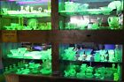 Massive Mixed lot of Vaseline Glass Green and Yellow Depression 150 Pieces
