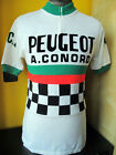 PEUGEOT SHELL proteam TDF 1982 85 VINTAGE ACRYLIC CYCLING JERSEY Sz M 3
