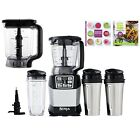 Ninja Auto IQ Blender System w/ 40 oz Bowl + 72 oz Pitcher + 3 Cups + Cook Book