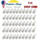 50x Super White T10 Wedge 5 SMD LED Interior Light bulbs 5050 W5W 194 168 2825