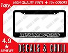Mazdaspeed License Plate Frame Decal Sticker - Mazda Rx7 Rx8 Miata Na Nb Mazda